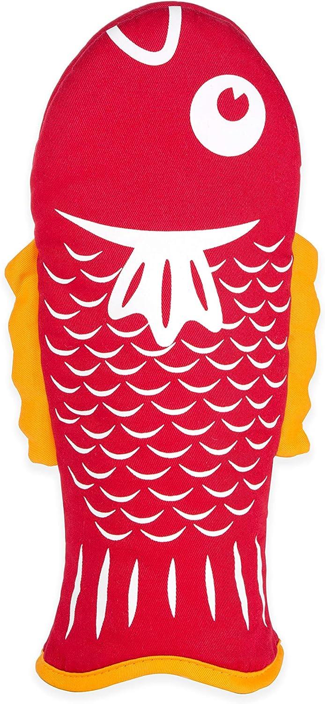 Topfhandschuh Fisch rot