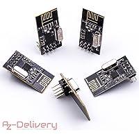 AZDelivery ⭐⭐⭐⭐⭐ 5X NRF24L01 avec 2,4GHz Antenne Module emetteur-recepteur sans Fil WiFi Récepteur RF Récepteur Module pour Arduino 5X NRF24L01 2.4GHz