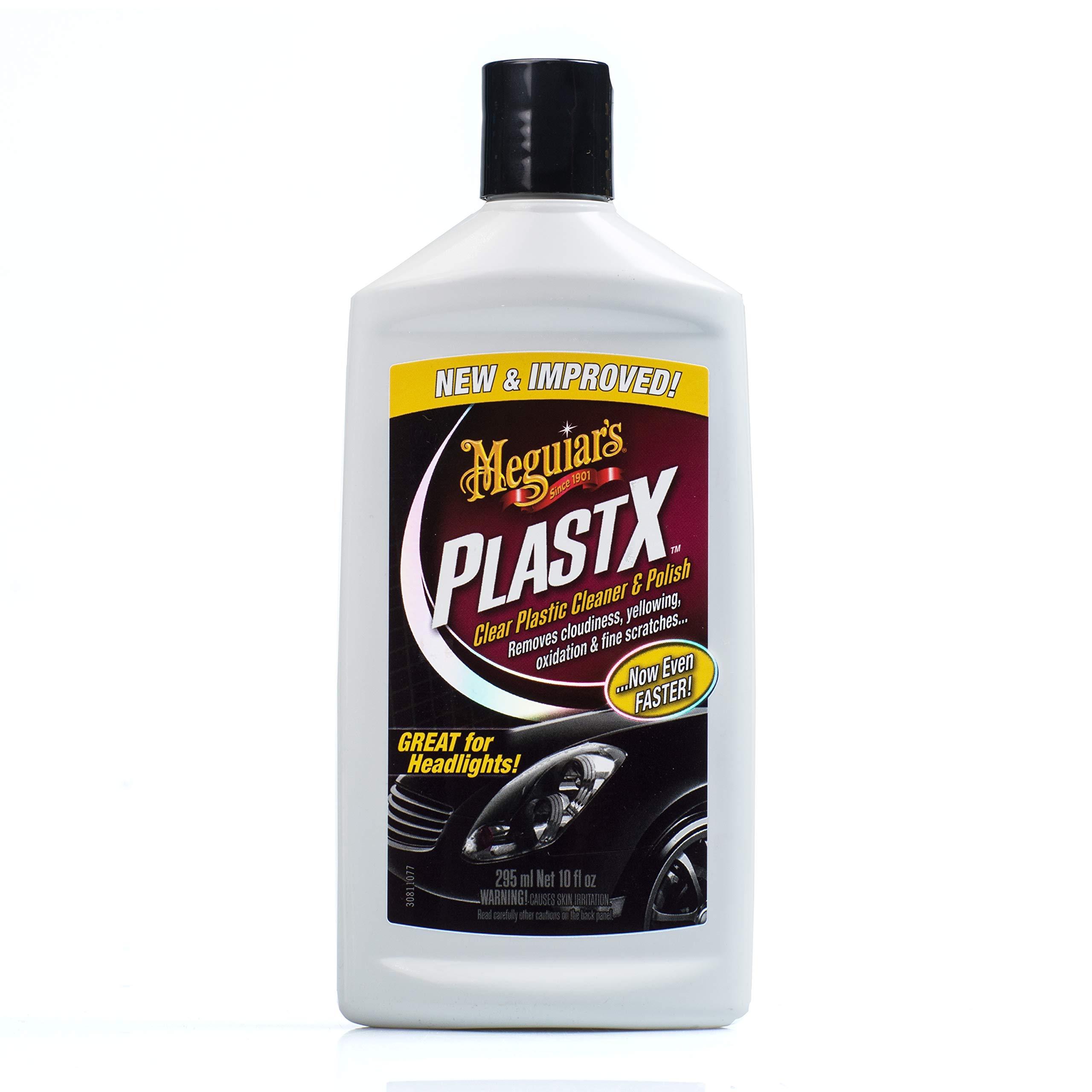 Meguiar's G12310 PlastX Clear Plastic Cleaner & Polish, 10 Fluid Ounces