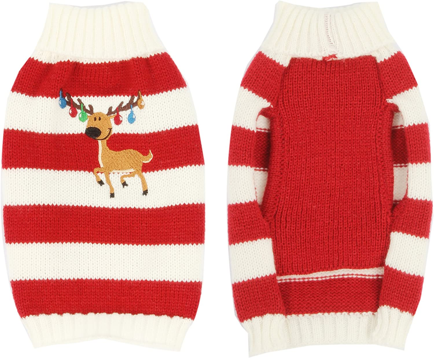 HAPEE Christmas Dog Sweater with Elk,Pet Cat Sweater Clothes