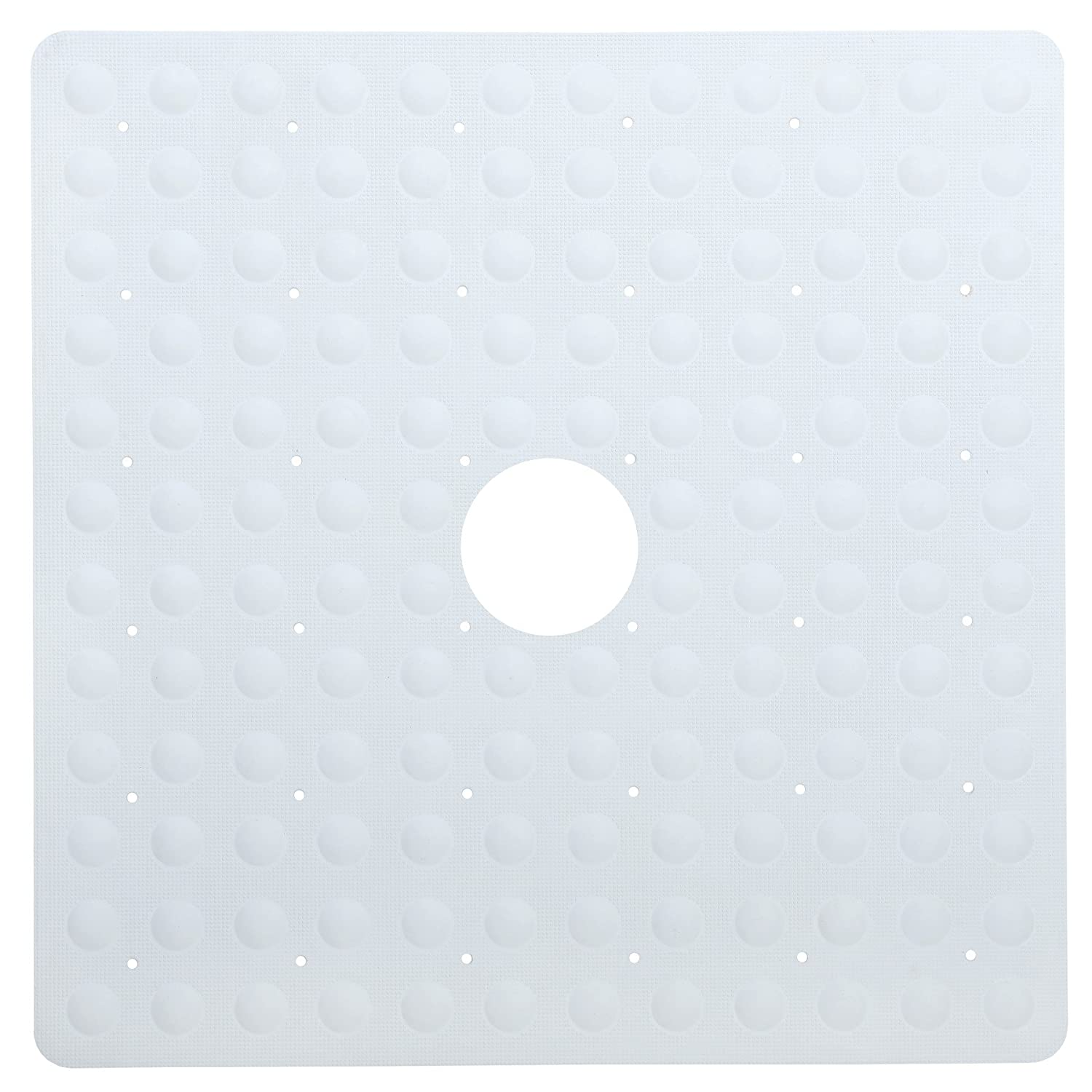 7443bd98f0c11 SlipX Solutions Mildew Resistant Large Tan Rubber Bath Safety Mat Features  Powerful Microban ® Antimicrobial Product Protection  (15 x 27 ...