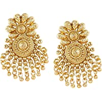 MUCH MORE Gold Plated Jhumki Polki Dangle & Drop Earring For Women