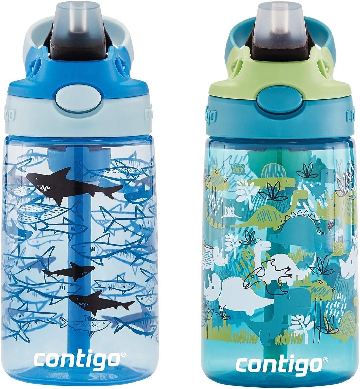 14 oz Dinos /& Sharks Contigo AUTOSPOUT Water Bottle