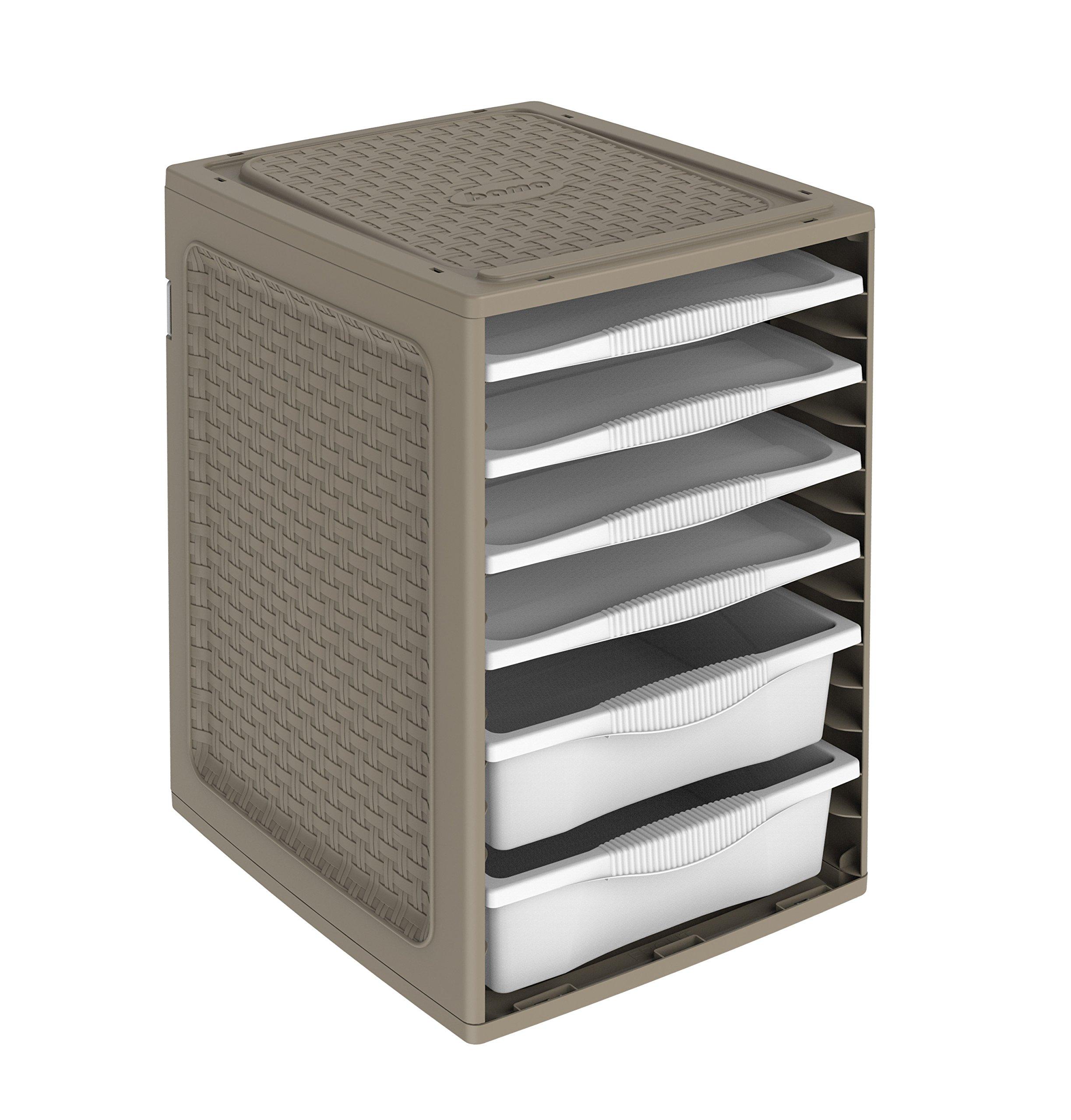 Bama Ri.Ordino Clothes Compartment-Taupe, One Size
