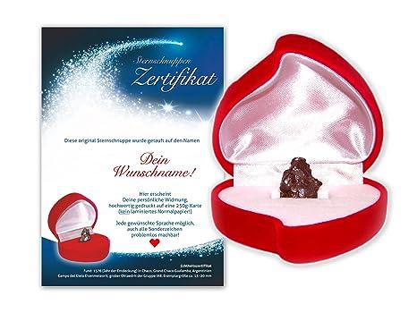 Echte Sternschnuppe verschenken Liebe und Romantik Geschenk Valentinstag