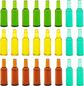 AUEAR, 24 Pieces Lovely Miniature Beer Bottles 1-3/8