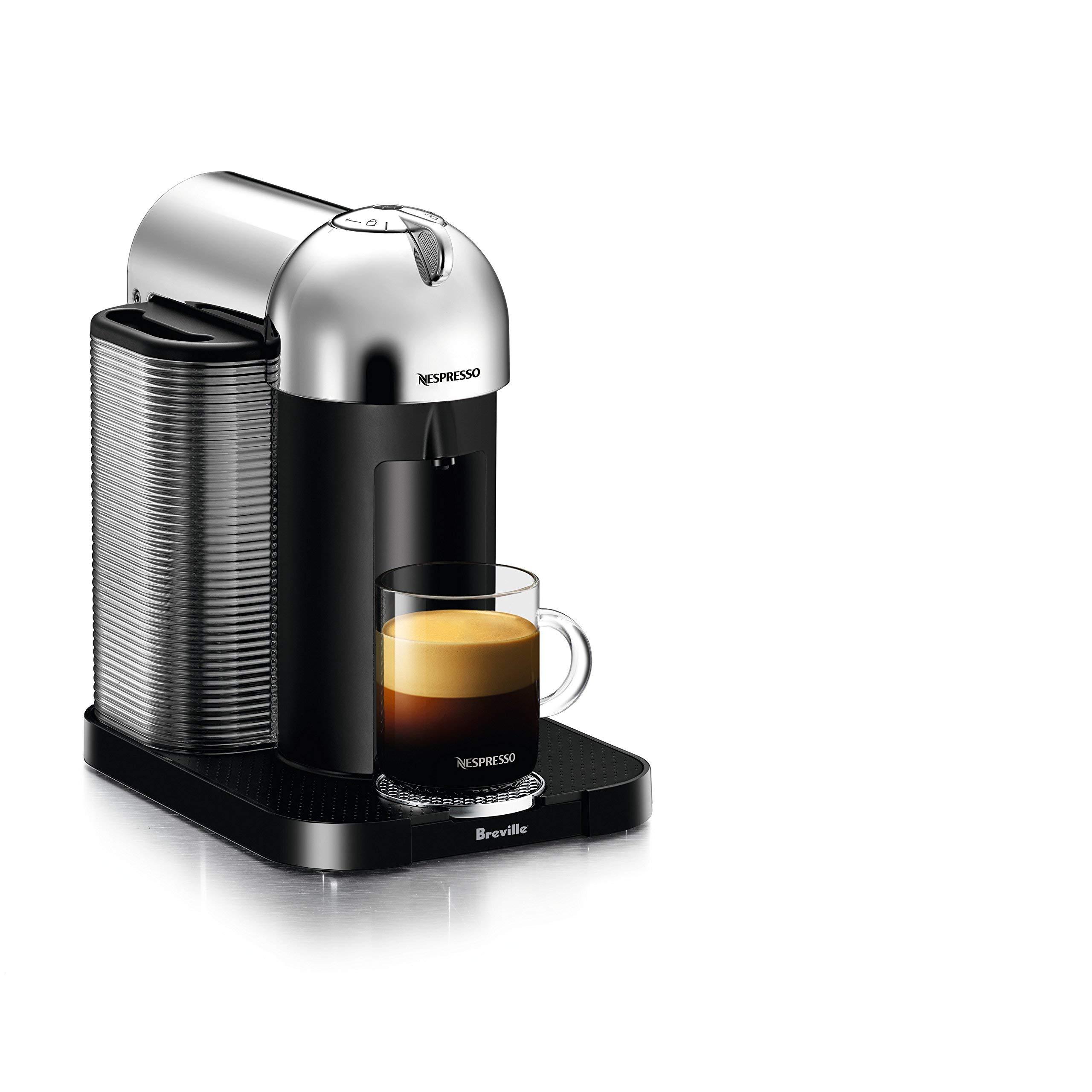 Nespresso Vertuo Coffee and Espresso Machine by Breville (Renewed) (Chrome) by Breville