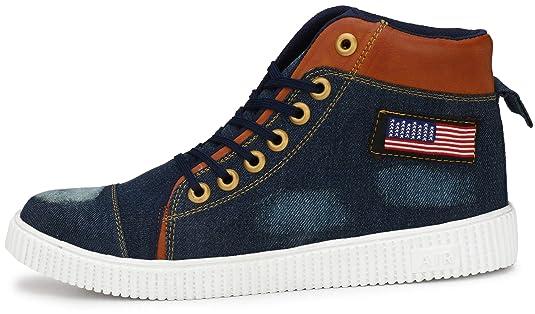5f571737f9b475 Flooristo Stylish Denim Casual Sneakers Boot Shoes for Men/Boys: Amazon.in:  Shoes & Handbags