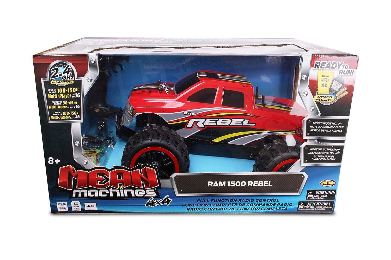 bf020d27629 Amazon.com: NKOK Mean Machines 1:10 RC RAM Rebel (2.4 GHz): Toys & Games