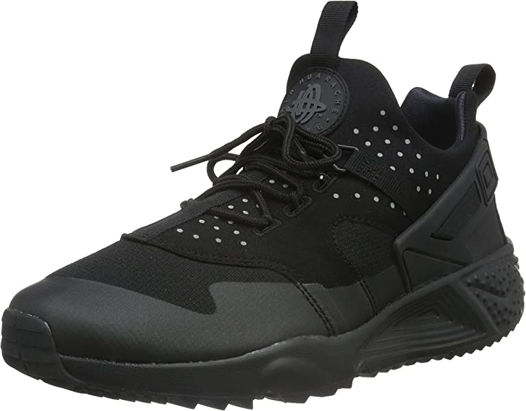 Nike Herren Air Huarache Utility Low Top, Schwarz (Black