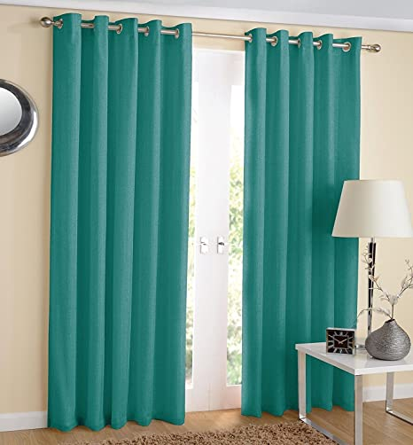 Noahs Linen Thermal Insulated Blackout Curtain Pair Eyelet Ring Top Ready Made Including Tie Backs 66quot