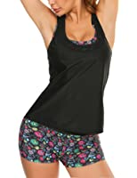 Avidlove 3 Piece Bathing Suits for Women Printed Bikini Set with Versatile Cover Up Tankini Swimsuits S-XXL