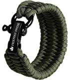 The Friendly Swede Trilobite Extra Beefy 550 lb Paracord Survival Bracelet with Stainless Steel Black Bow Shackle…