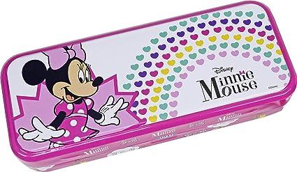 Triple the Fun Minnie Mouse Tin - Neceser Minnie, Set de Maquillaje para Niñas - Maquillaje Minnie - Selección de Productos Seguros en un Estuche con 3 Pisos: Amazon.es: Belleza