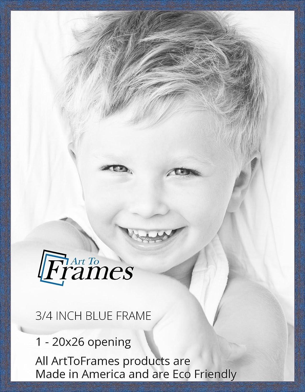 Amazon.com - ArtToFrames 20x26 inch Blue Rustic Barnwood Wood ...