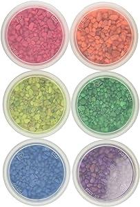 Hygloss Products, Inc 23606 Mini 6 OZ Aquarium & Craft Gravel, 6 x 6 oz, 6 Assorted Neon Colors, 6 Piece