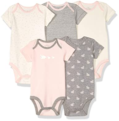 a61d72920a Amazon.com: Moon and Back Baby Set of 5 Organic Short-Sleeve Bodysuits:  Clothing