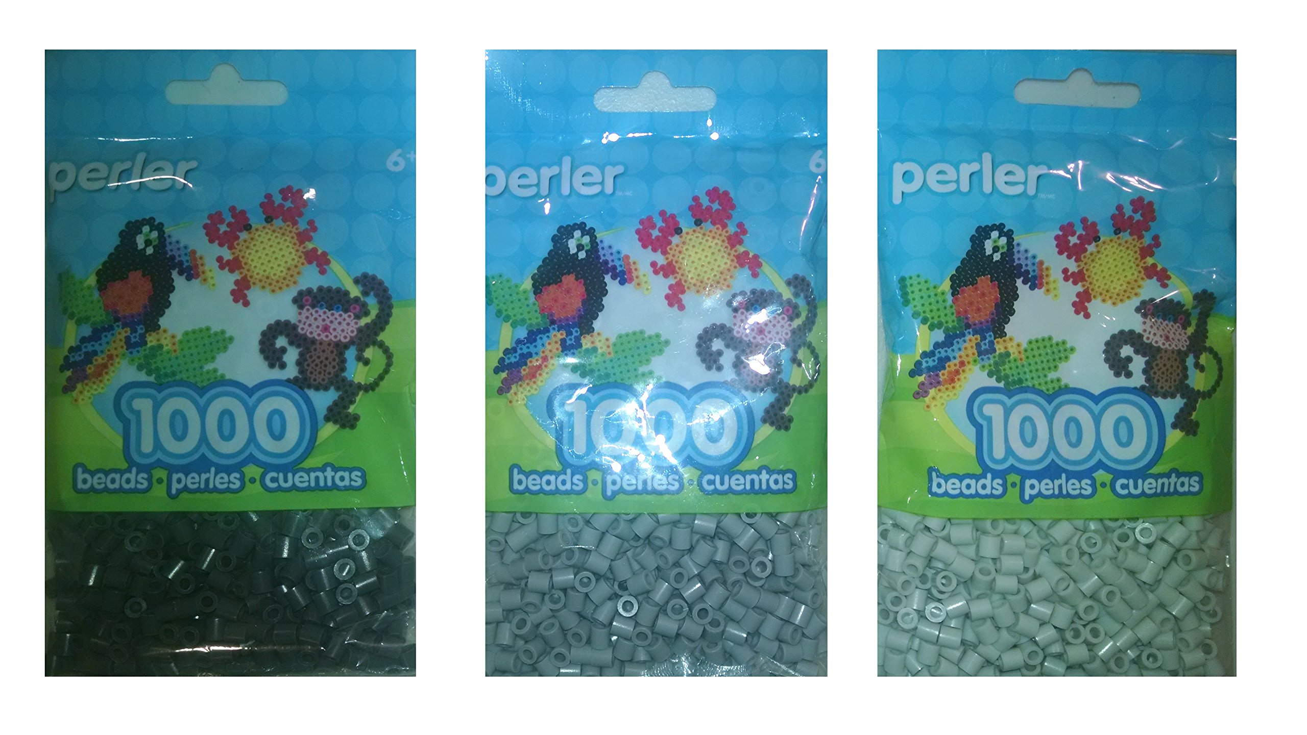 Perler Bead Bag, Grey Group (Grey, Dark Grey, Light Grey) by Perler (Image #1)