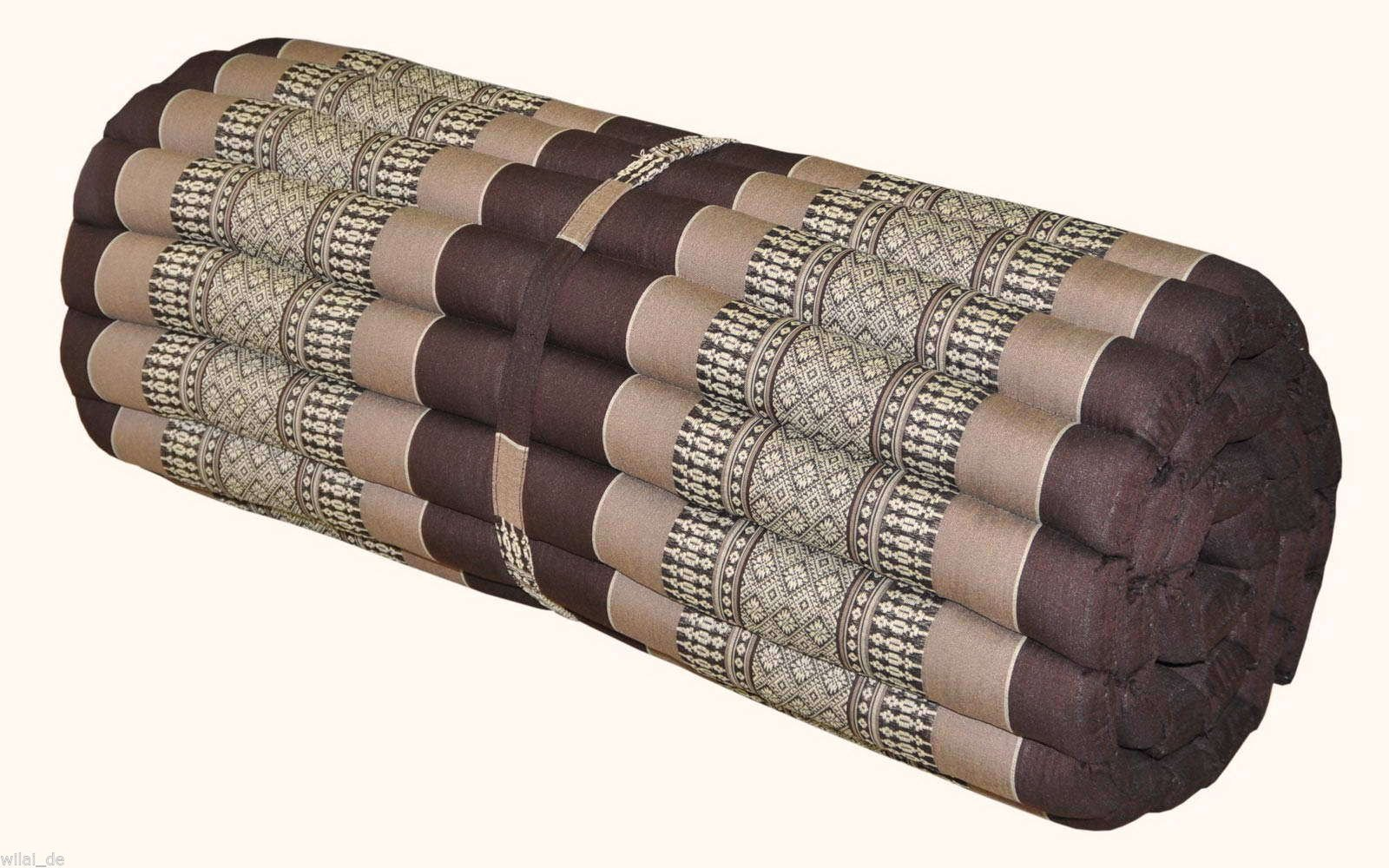 Noinoi@roll up Thai Mattress Kapok (Large, Brown) by NOINOI