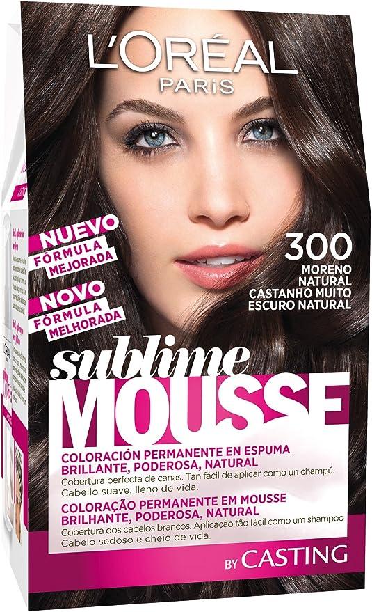 LOréal Paris Sublime Mousse Coloración Permanente, Tono 300 Moreno Natural - 300 g