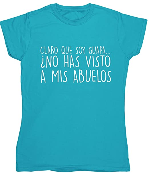 HippoWarehouse CLARO QUE SOY GUAPA ¿NO HAS VISTO A MIS PADRINOS? camiseta manga corta