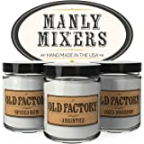Scented Candles for Men - Manly Mixers - Set of 3: Spiced Rum, Absinthe, Aged Bourbon - 3 x 4-Ounce Soy Candles - Each Votive Candle is Handmade in the USA with only the Best Fragrance Oils