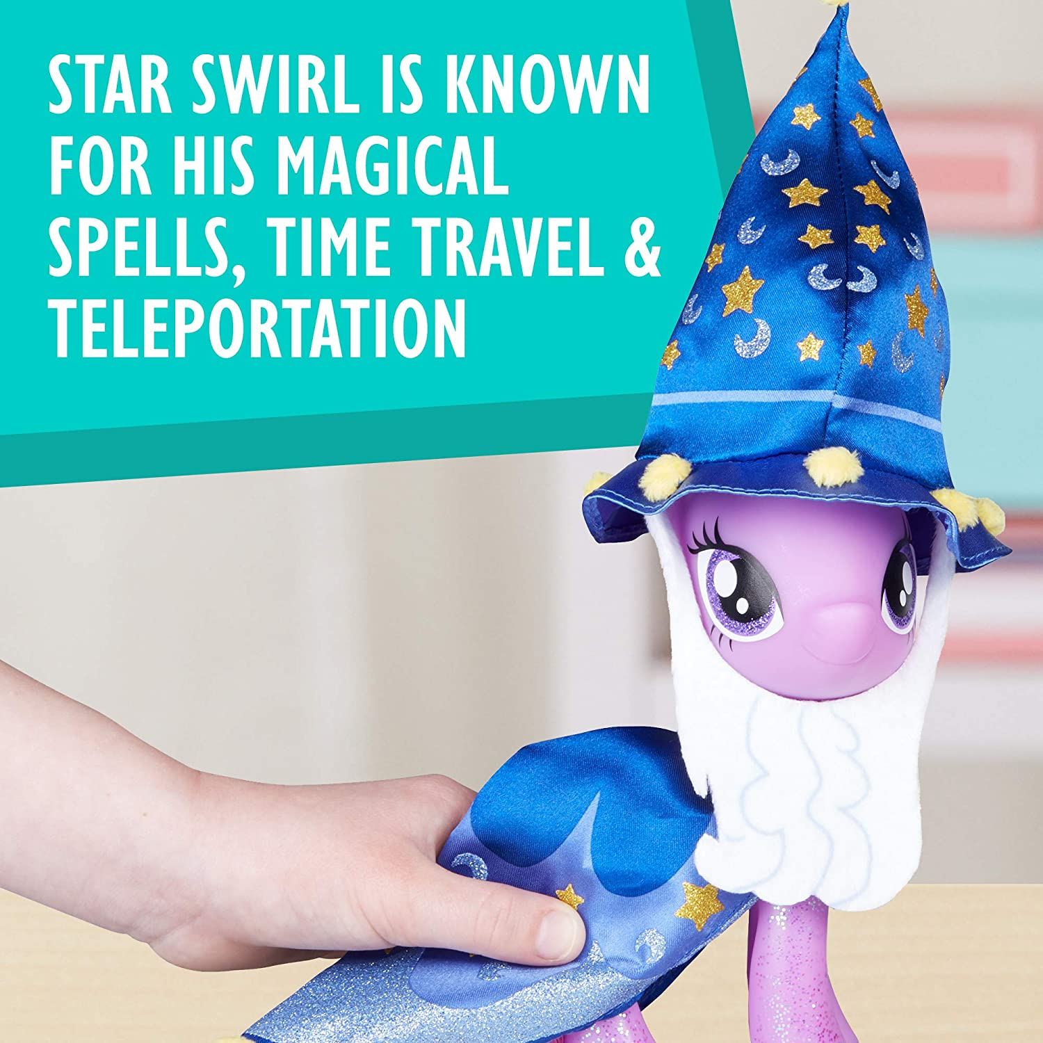 Star Swirl the Bearded Outfit and Spell Book Package for Display Hasbro My Little Pony Twilight Sparkle and Spike the Dragon Collectors Series Figures Import E2312AC1