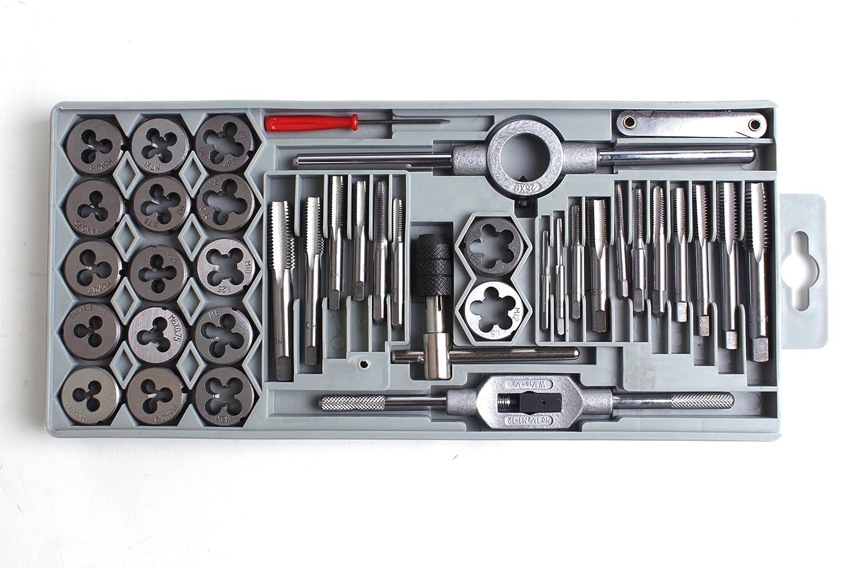 Rosca Schneider - Juego de 40 piezas, M3 a M12 + BSP 1/8, rosca y broca 25 x 9 M3 –  M12 M3a M12+ BSP 1/8 rosca y broca 25x 9M3-M12 GSR