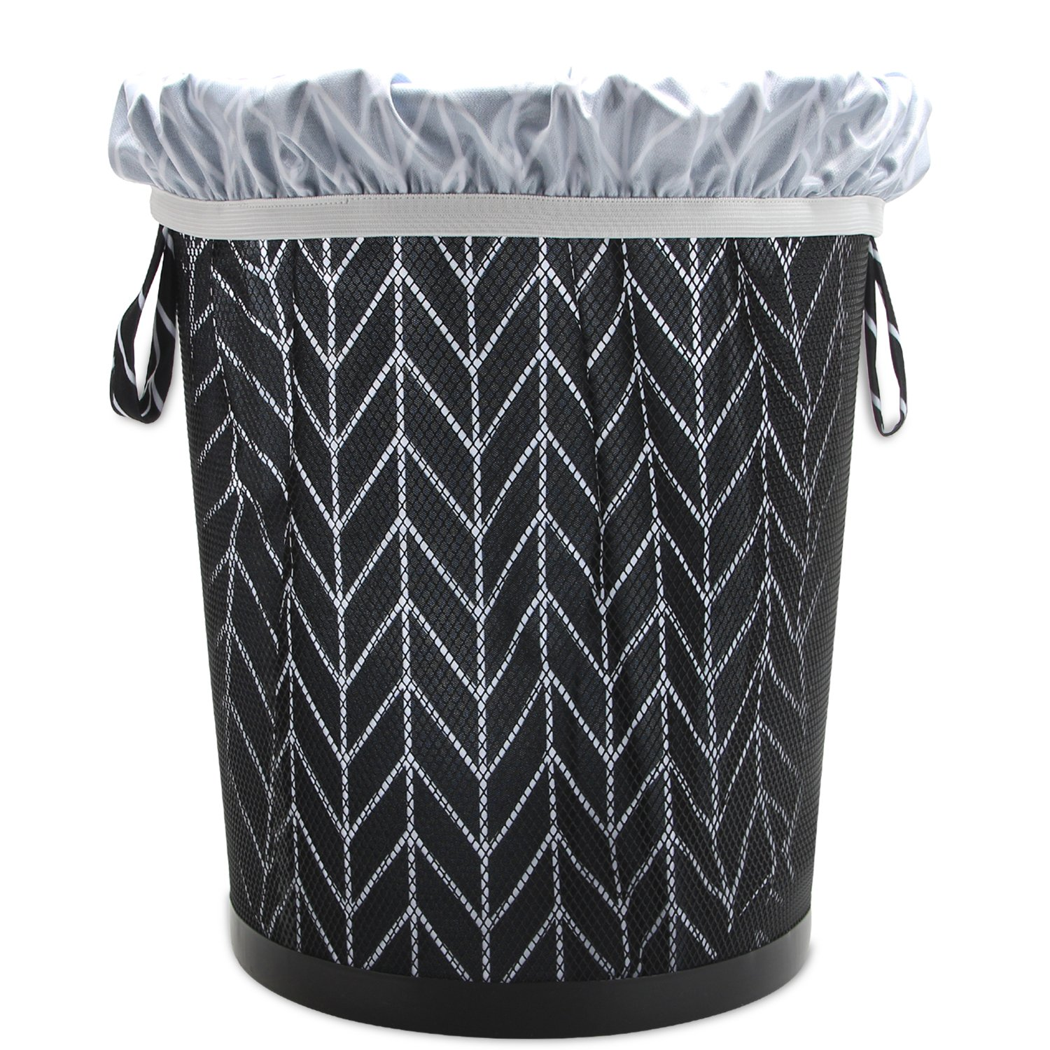 Reusable Pail Liner for Cloth Diaper//Dirty Diapers Wet Bag Teamoy Gray Triangle+Gray Dots 2 Pack