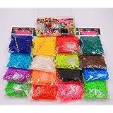 Bandes de métier à tisser coloré bricolage recharge bande de caoutchouc Kit 16 couleurs différentes 9600 PCS 384 S clips 16 crochets