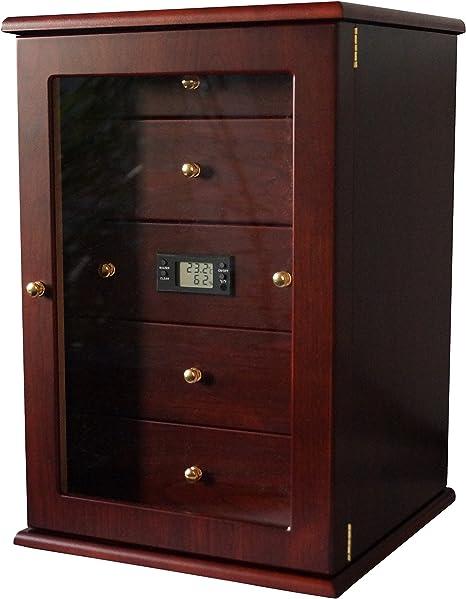 GERMANUS Cigar Humidor Cabinet VIADRUS with Digital Hygrometer and Humidifier
