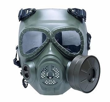 GSG M04 - Réplica de máscara de gas verde verde oliva: Amazon.es: Deportes y aire libre