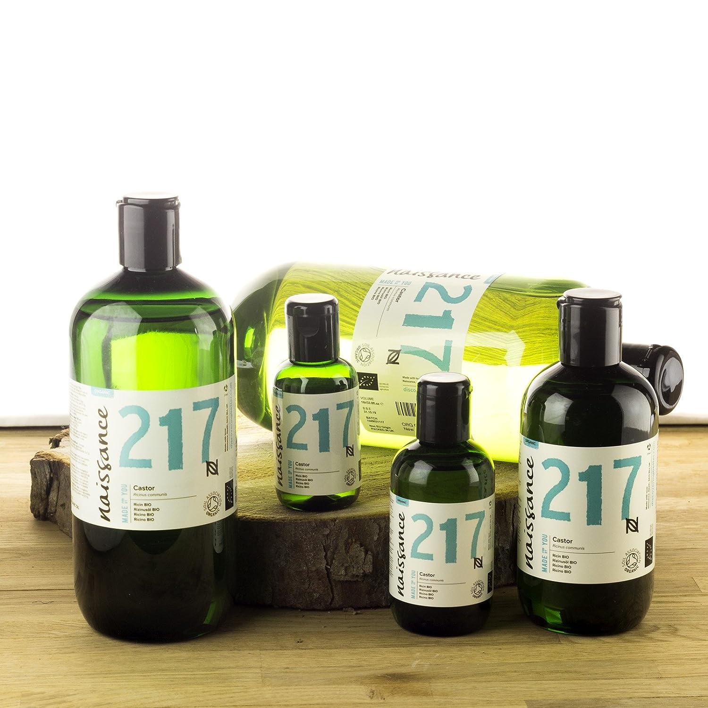 Naissance Aceite de Ricino BIO 1 Litro - Puro, natural, certificado ecológico, prensado en frío, vegano, sin hexano, no OGM - Hidrata y nutre el cabello, ...