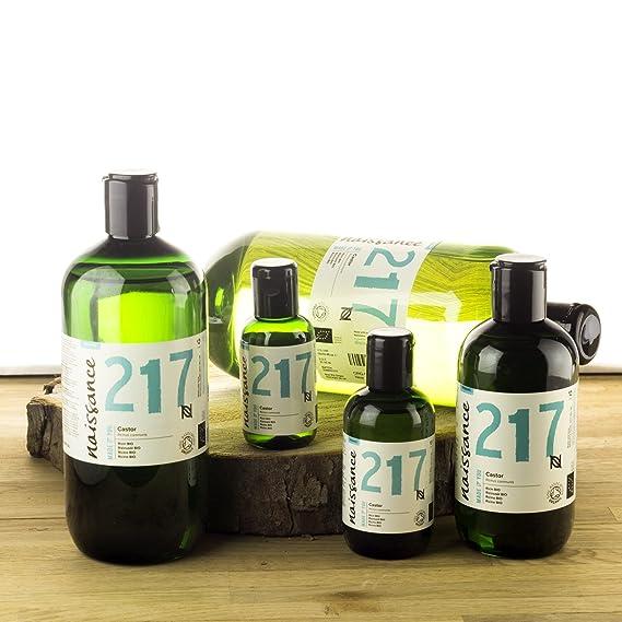 Naissance Aceite de Ricino BIO 500ml - Puro, natural, certificado ecológico, prensado en frío, vegano, sin hexano, no OGM - Hidrata y nutre el cabello, ...