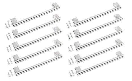 Barras de acero inoxidable para tirador de armario de cocina o baño, 128 mm