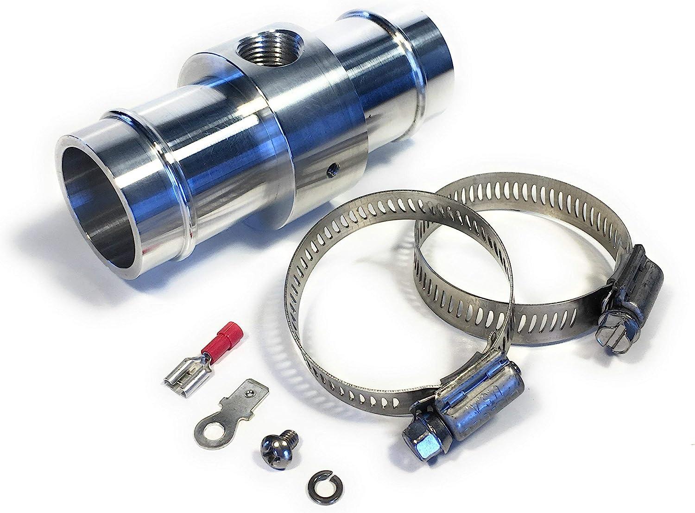 32MM Water Temperature Sensor Adapter Radiator Hose 1//8 NPT TEMP Hose
