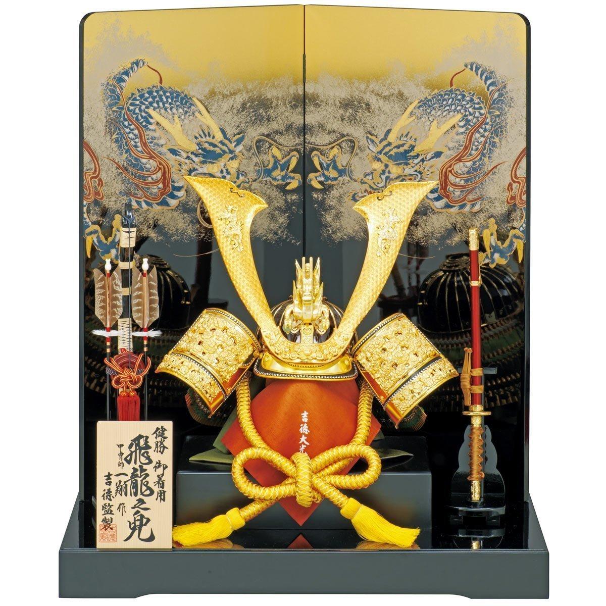 吉徳大光 五月人形 兜飾り 飛龍之25号 横幅75×奥行55×高さ85 cm 13yos-536210 B00BYTONGS