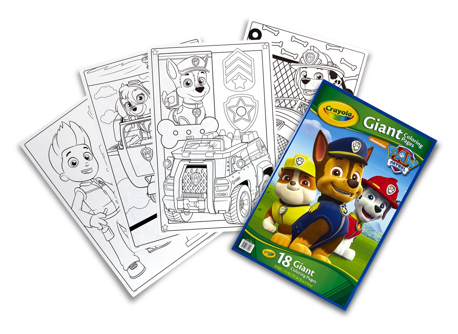 Amazon.com: Crayola Paw Patrol Giant Coloring Pages: Toys & Games