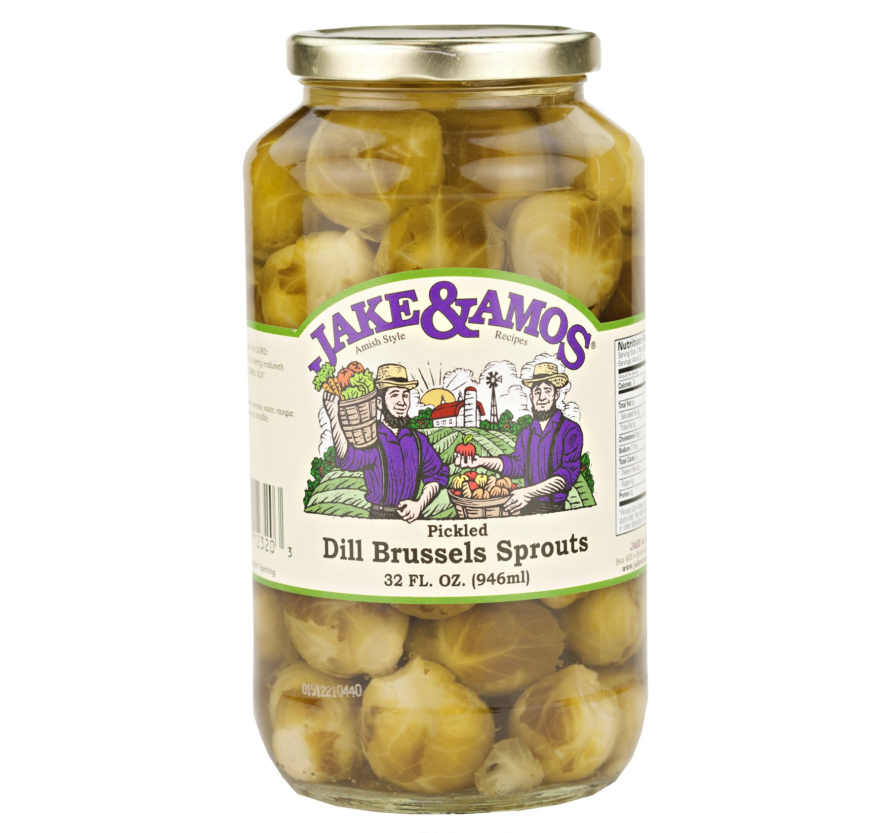 Jake & Amos Pickled Dill Brussels Sprouts 32 Oz. (2 Jars)