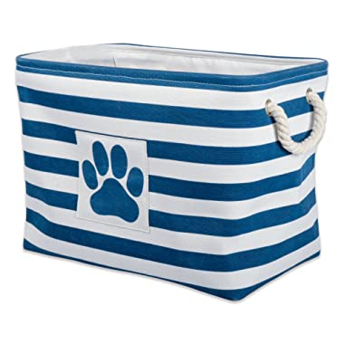 DII Bone Dry Small Round Pet Toy and Accessory Storage Bin, 12 (Dia) x9(H), Collapsible Organizer Storage Basket for Home Décor