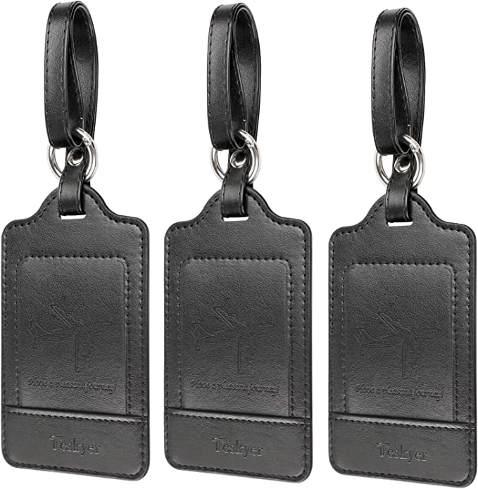 Leather luggage tag set Leather luggage tag Trip essential Gift for travel lovers Never loose Your luggage Keep Your luggage safe Tags