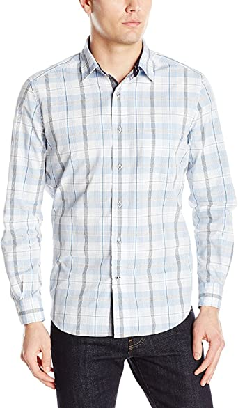 Nautica Camisa de cuadros azul Haze para hombre