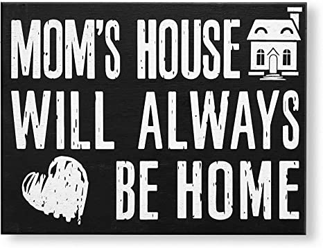 Amazon Com Jennygems Mom S House Will Always Be Home Wooden Mom Quote Saying Box Sign Sentimental Gift Mom Sign Presents For Mom Mom Gifts For Mom And