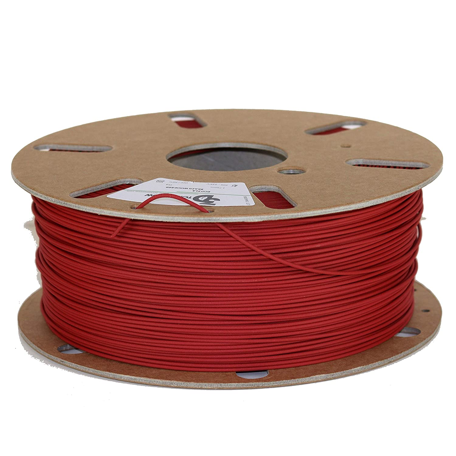 3DTomorrow Brazilwood Red Eco PLA Filament 1.75mm Eco Friendly 3D Printer Filament Matte PLA Contains recycled PLA 100/% Recyclable Cardboard Spool