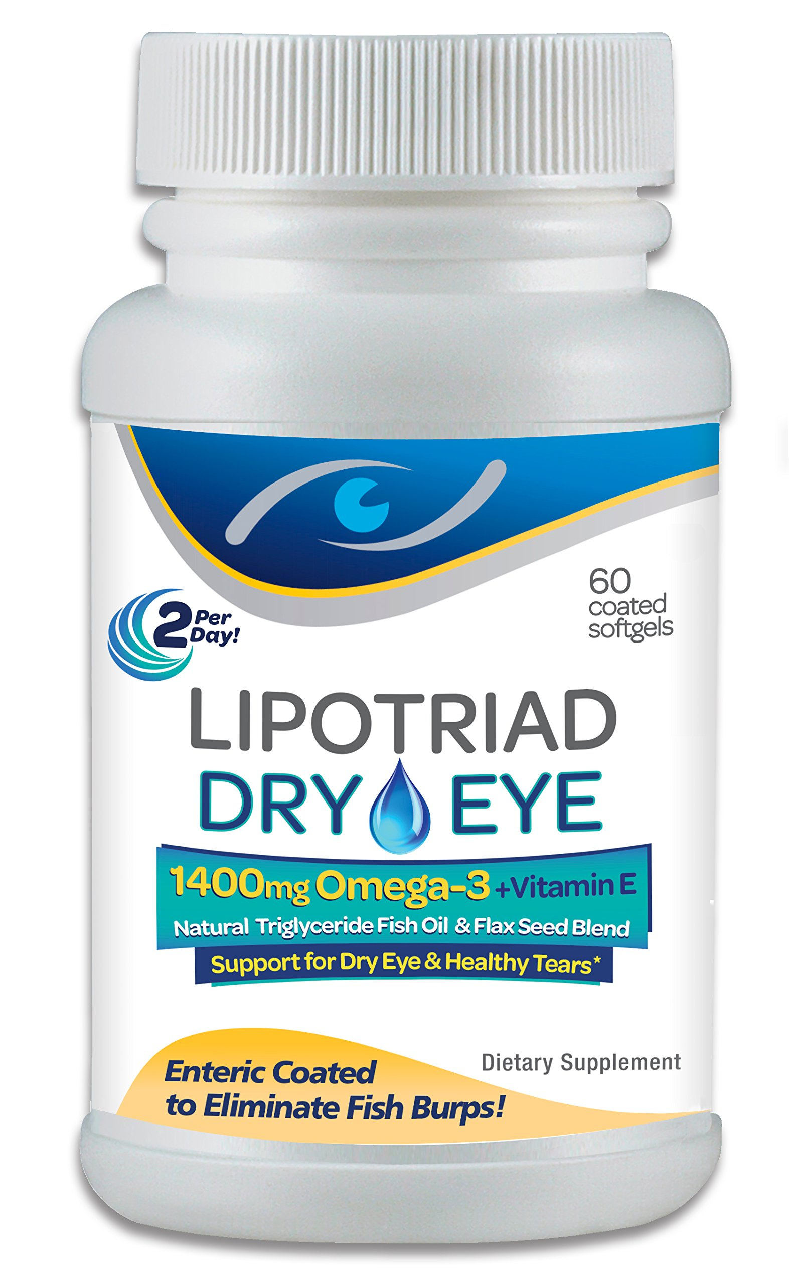 Lipotriad Dry Eye Formula - 1400Mg Omega-3 Supplement - With 1400Mg Natural T.. 8