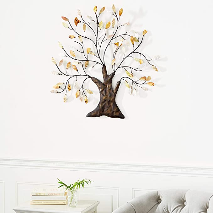 Tree Of Life Wall Art Decoration Branch Shells Home Home Kitchen