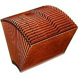 Globe-Weis/Pendaflex Heavy Duty Expanding File, Open Top, 21 Pockets, A-Z, 1/3 Cut Tabs, Letter Size, Brown (R217AHD)