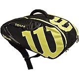 Wilson(ウイルソン) テニス バッグ バドミントン ラケットバッグ TEAM J 6 PACK(チームJ 6パック) ラケット6本収納可能