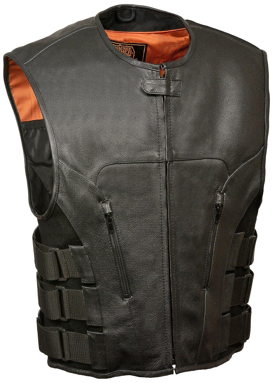 Milwaukee Mens Swat Style Zipper Front Vest Black, 8X-Large