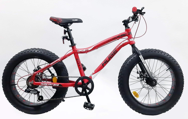 VELO Bicicleta Fat Bike de 20 Pulgadas, Marco de Aluminio, Doble ...